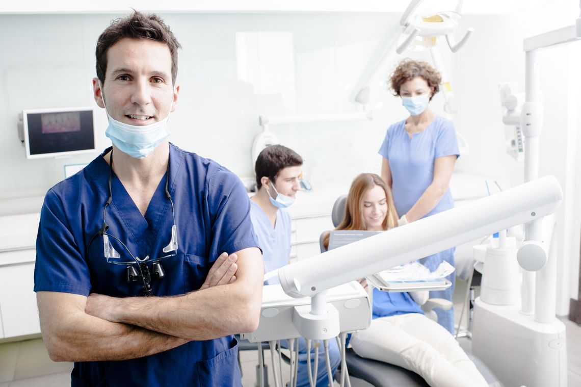 Dentists in their office